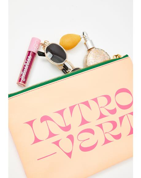 Introvert Extrovert Double Sided Clutch