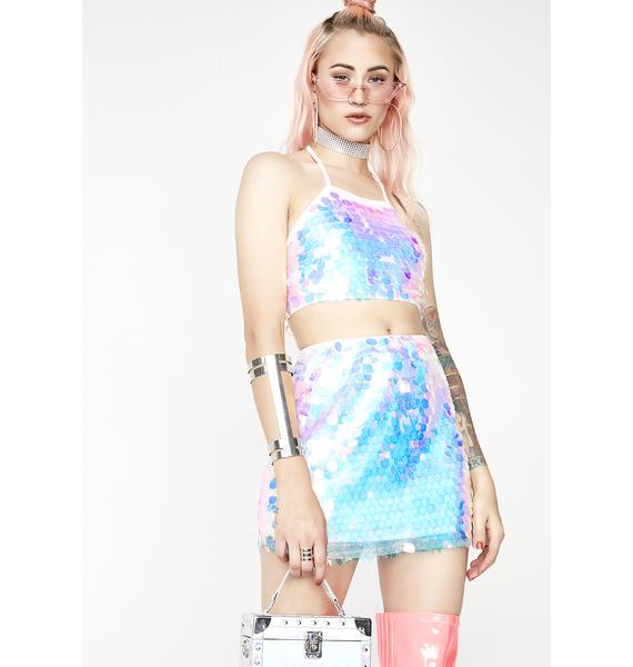 Icy Siren Mini Skirt