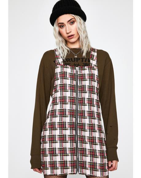 Want You Around Plaid Dress