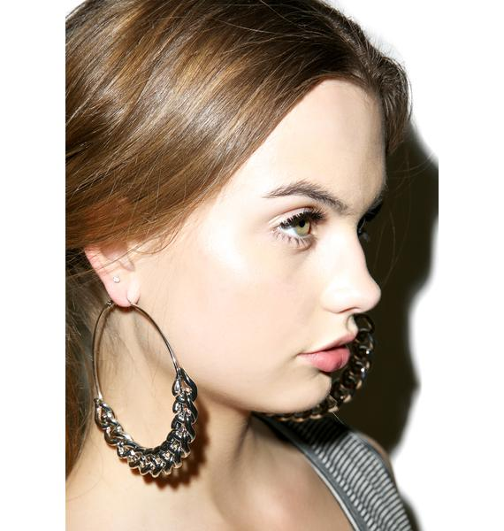 Chain Gang Hoop Earrings