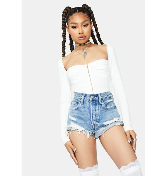 Pure Soft Stares Sweetheart Crop Top