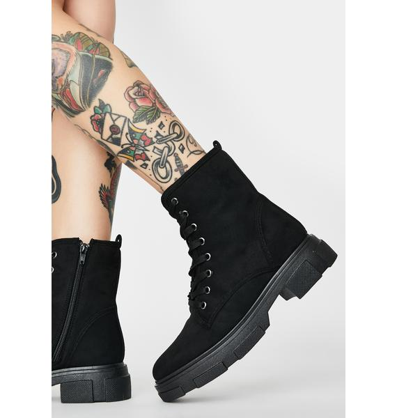 Midnight The Dopeness Combat Boots