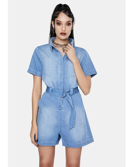 Karla Denim Romper