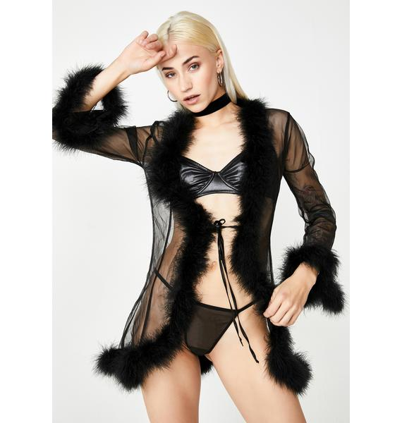Wicked Dream Land Feather Robe