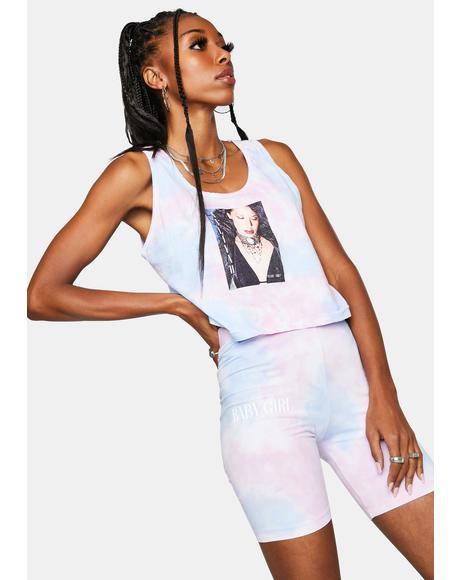 Aaliyah Tie Dye Biker Shorts