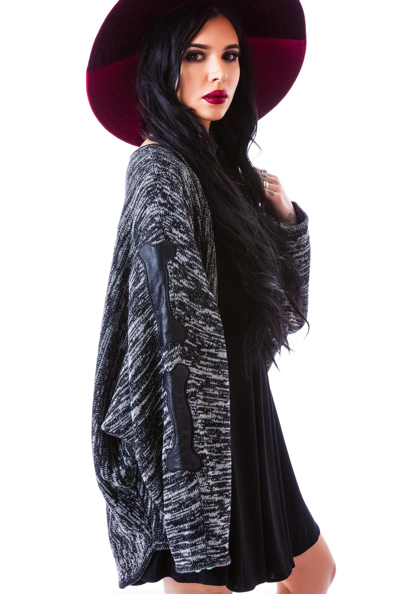 Evil Twin Back Boned Knitted Cape