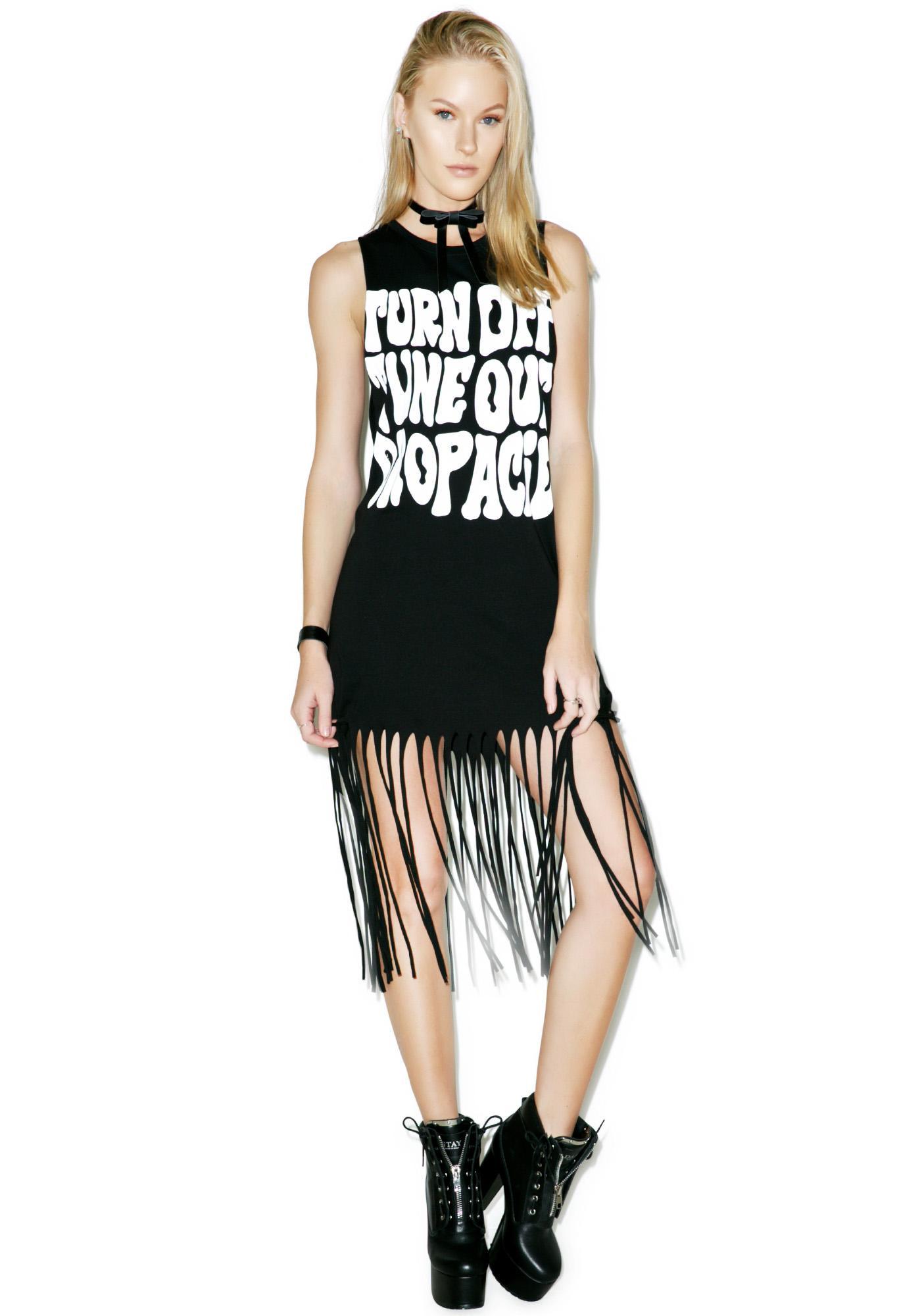 Disturbia Acid Fringe Dress