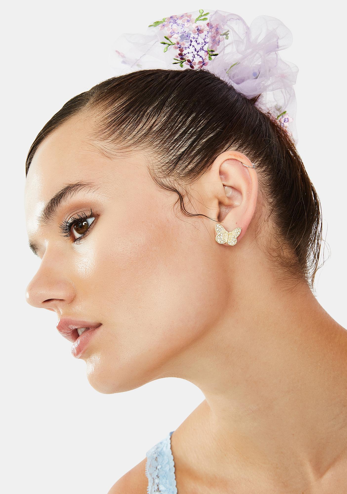 Monarch Madness 3-Piece Earrings Set