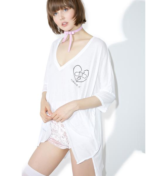Wildfox Couture Forgive-Me Sunday Morning V-Neck Tee