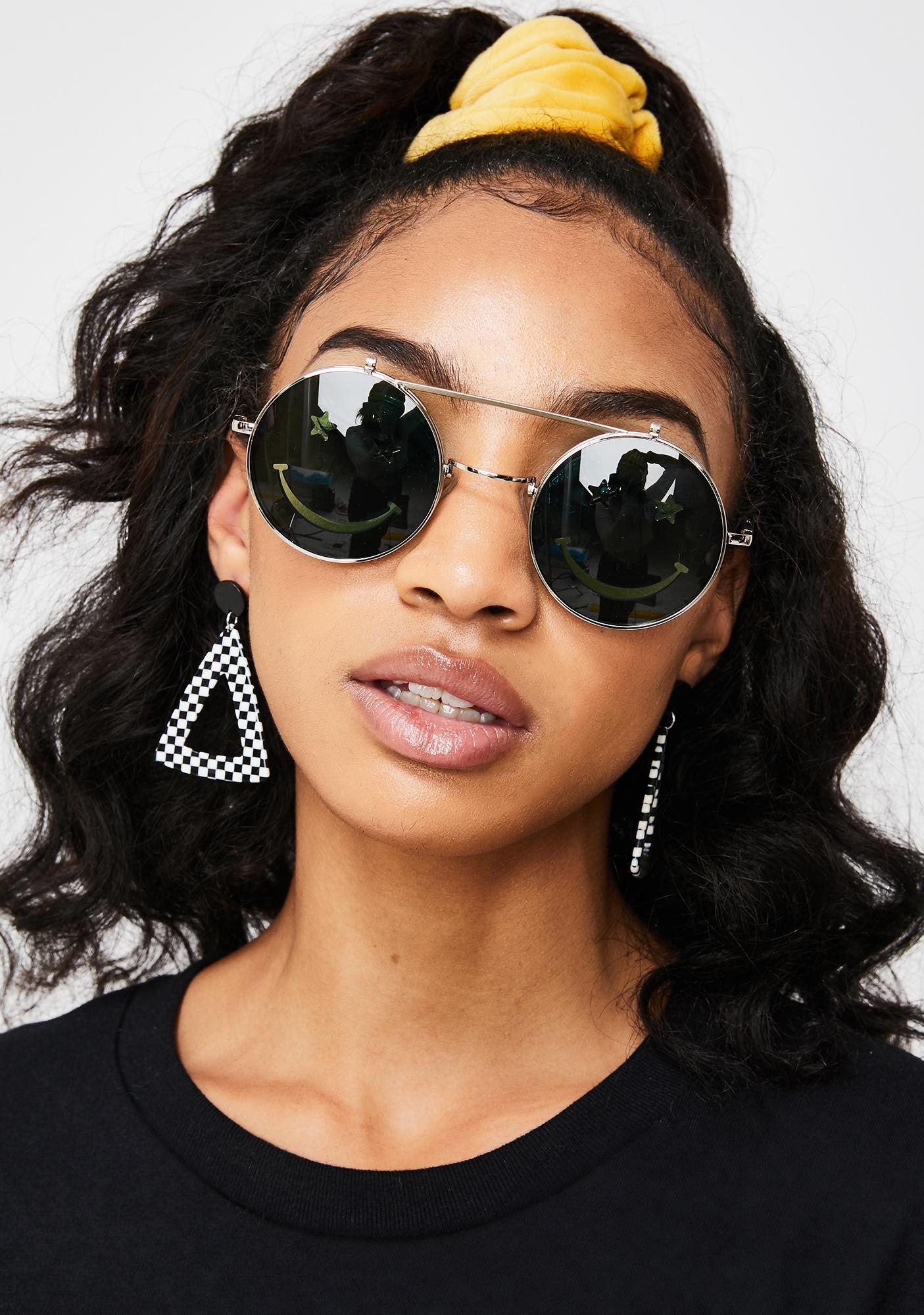 Cash Crazed Daze Smiley Sunglasses