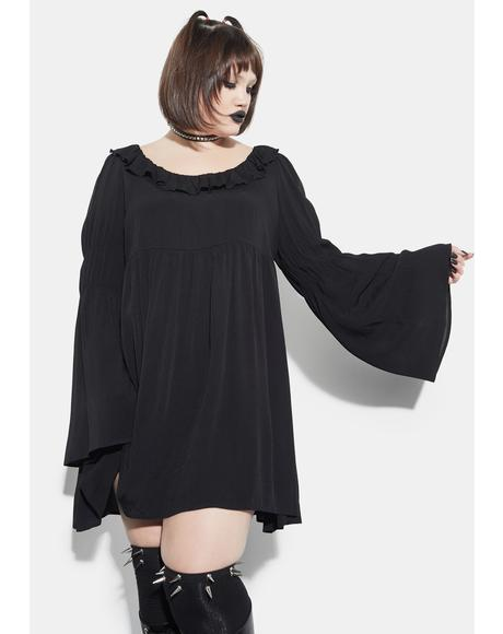 The Bottomless Pit Flare Sleeve Mini Dress