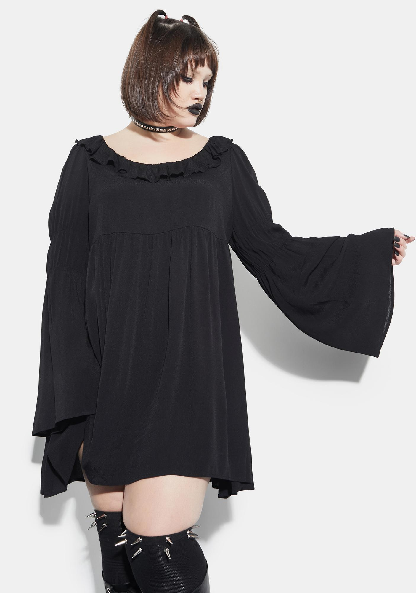 Current Mood The Bottomless Pit Flare Sleeve Mini Dress