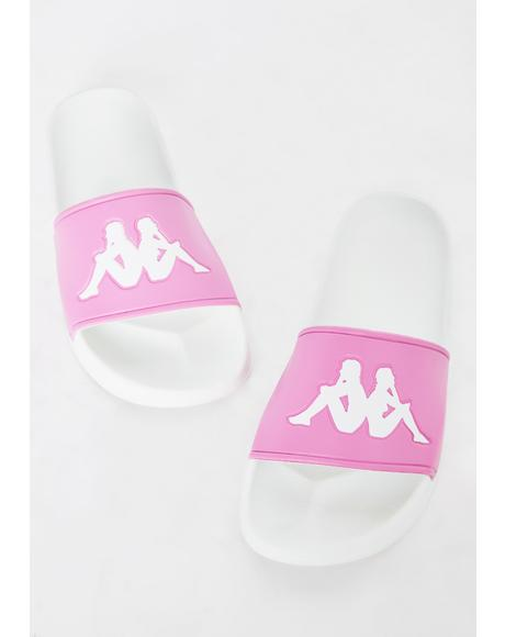 Pink Authentic Adam 2 Slides