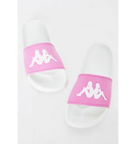 Kappa Pink Authentic Adam 2 Slides