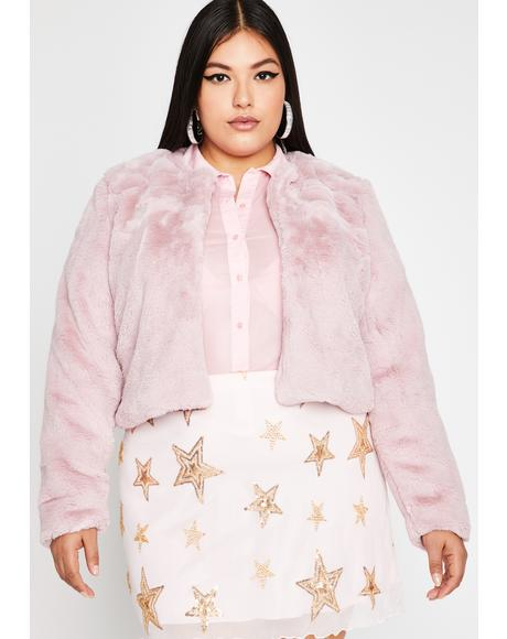 Run It Up Faux Fur Jacket