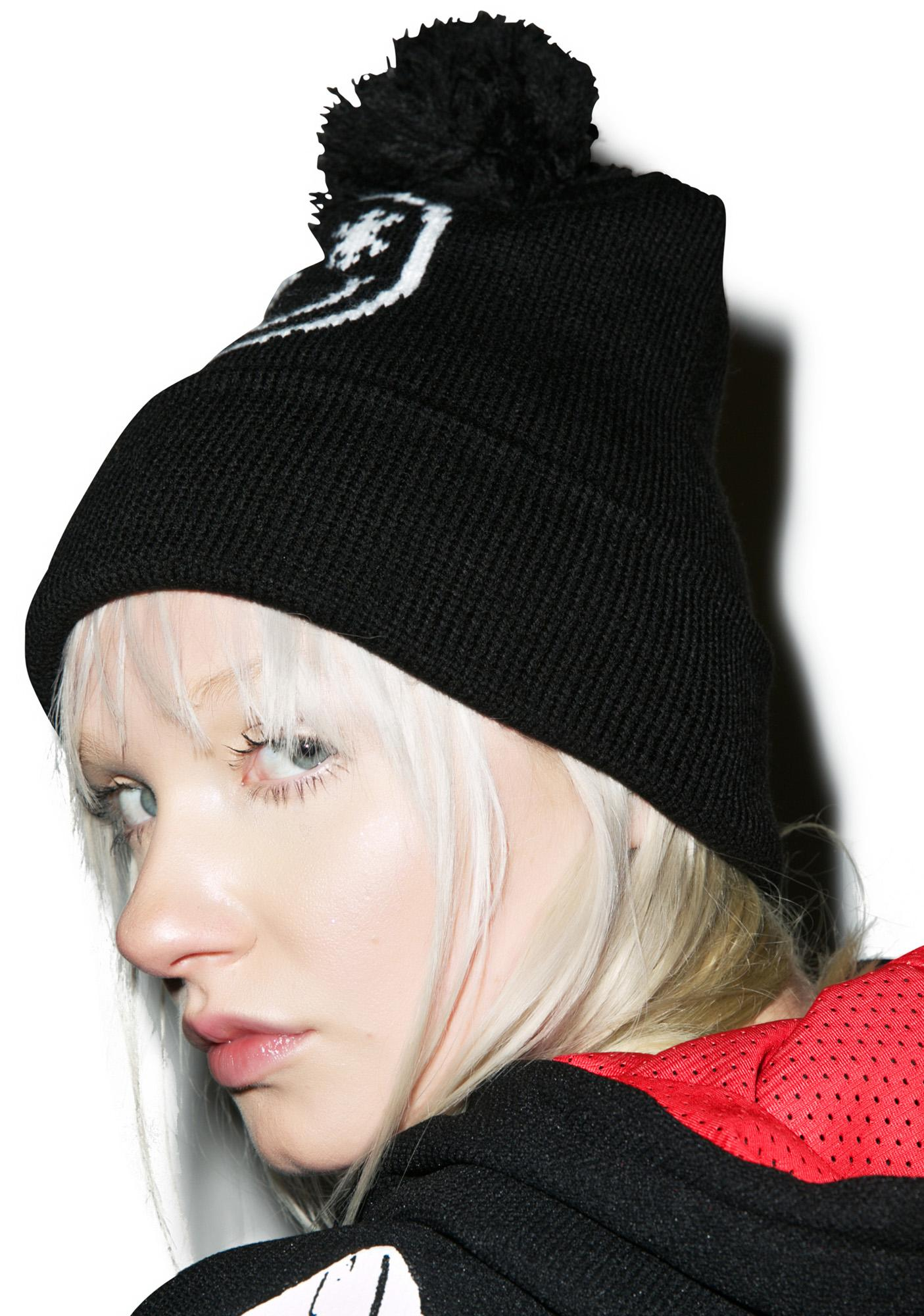 Jac Vanek Smileflake With Pom So Deep Beanie