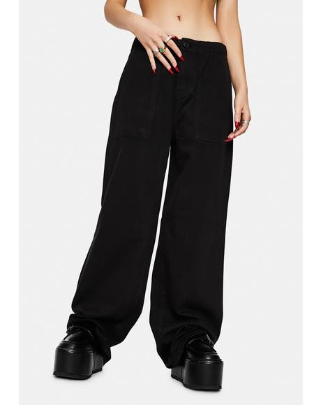 Black Tammy High Waisted Wide Leg Pants