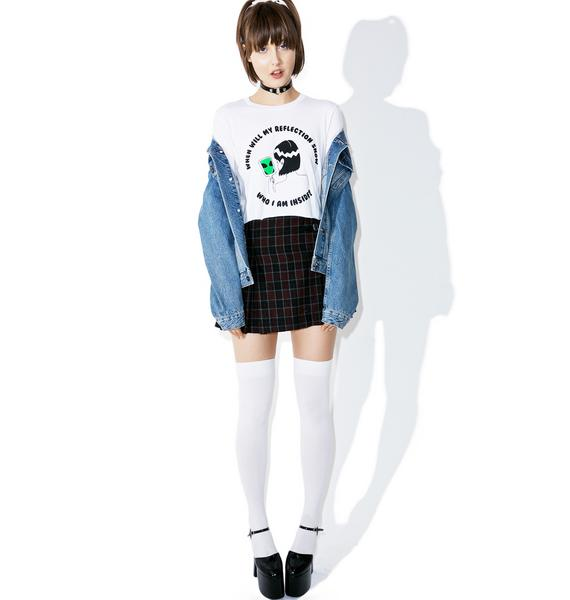 Moon River Collective Alien Reflection Crop Tee