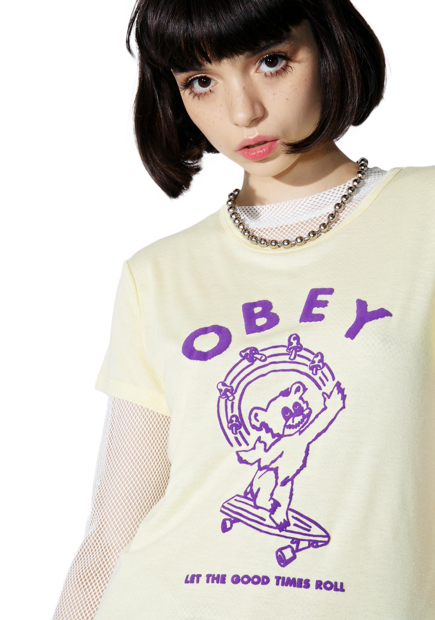 Obey Let The Good Times Roll Babydoll Tee
