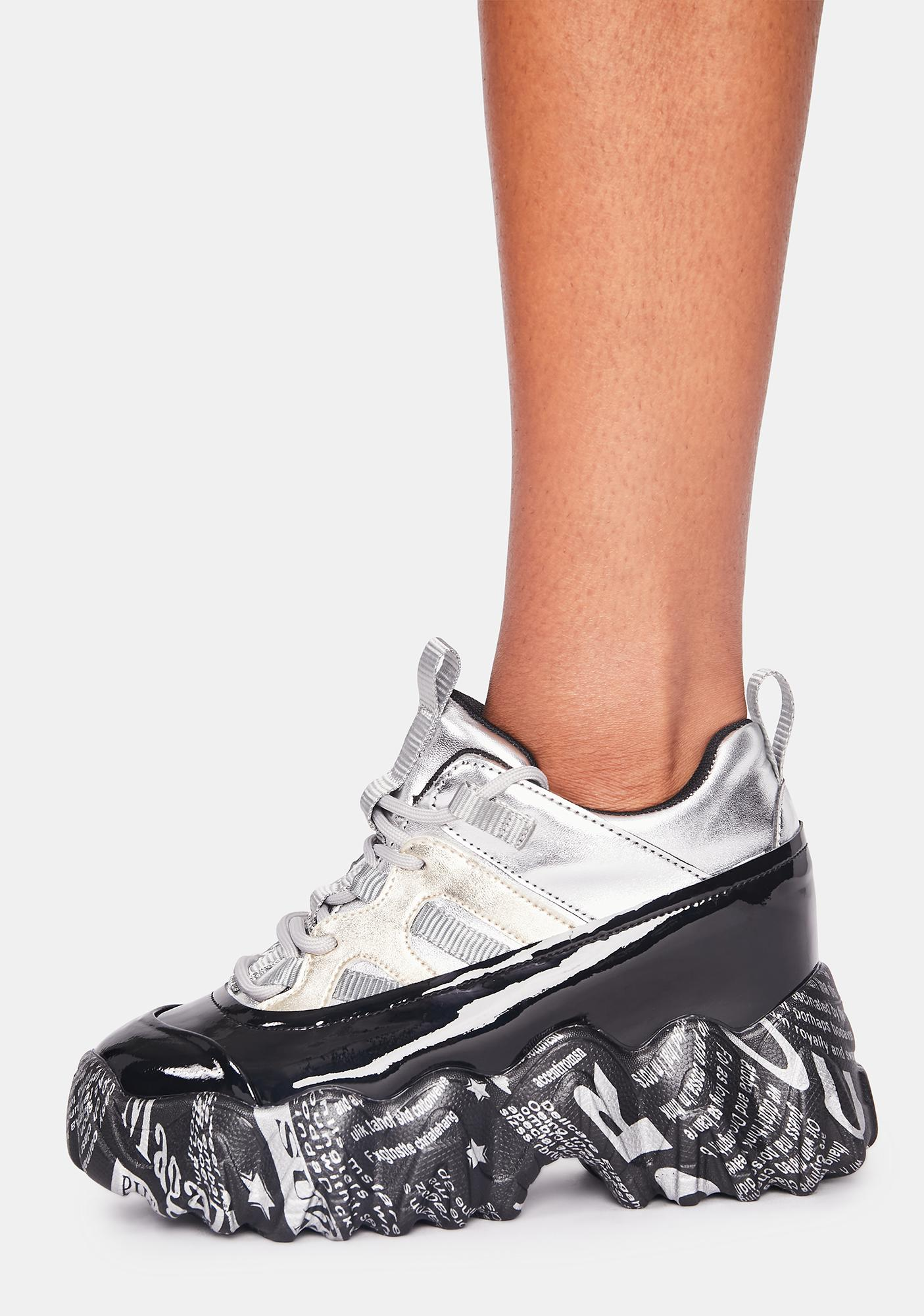 Anthony Wang Silver Blackberry Platform Sneakers