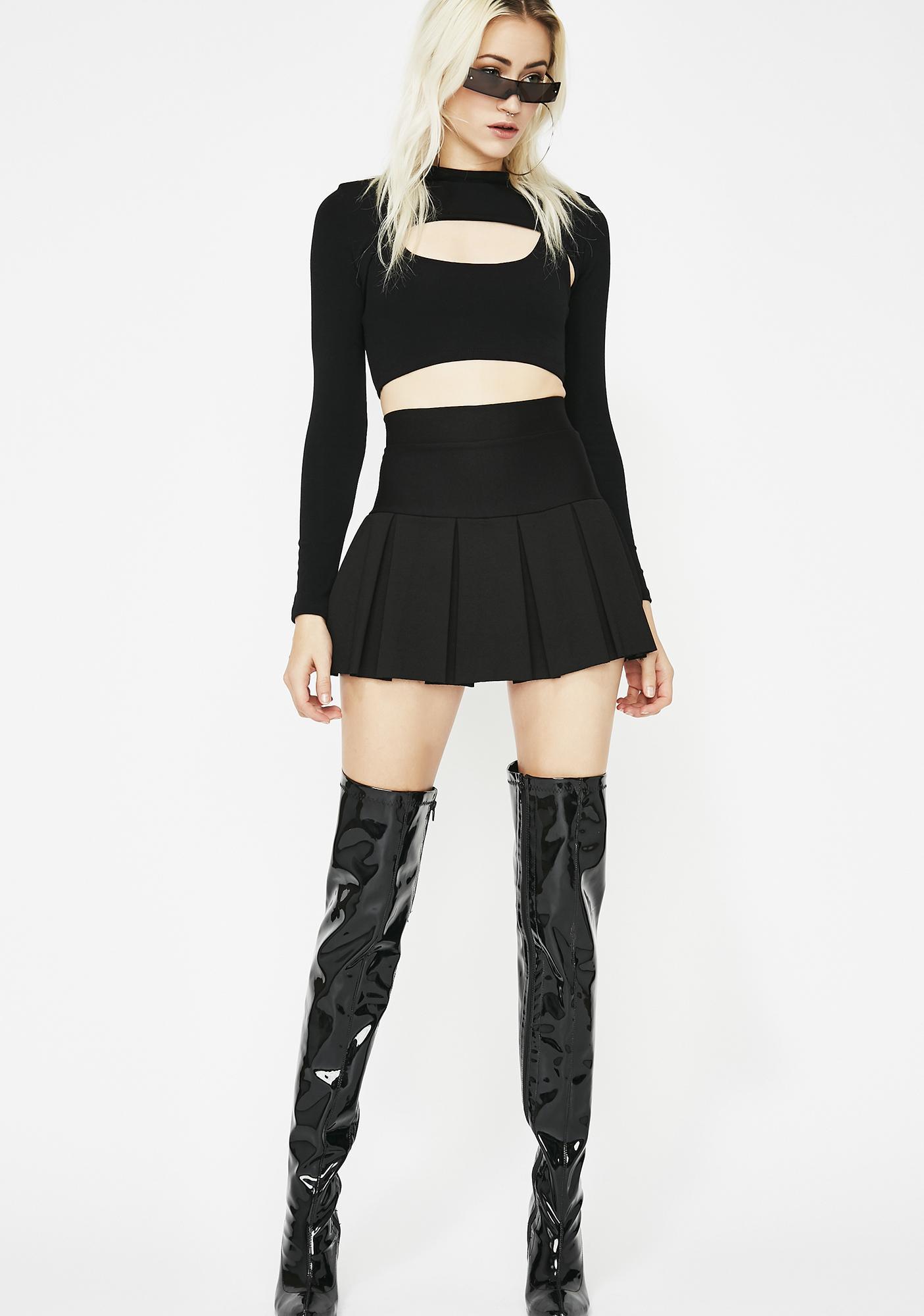 Wicked Scholar Pleated Mini Skirt