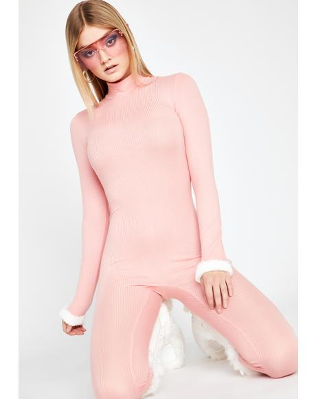 Baby Can't Fight It Ribbed Catsuit