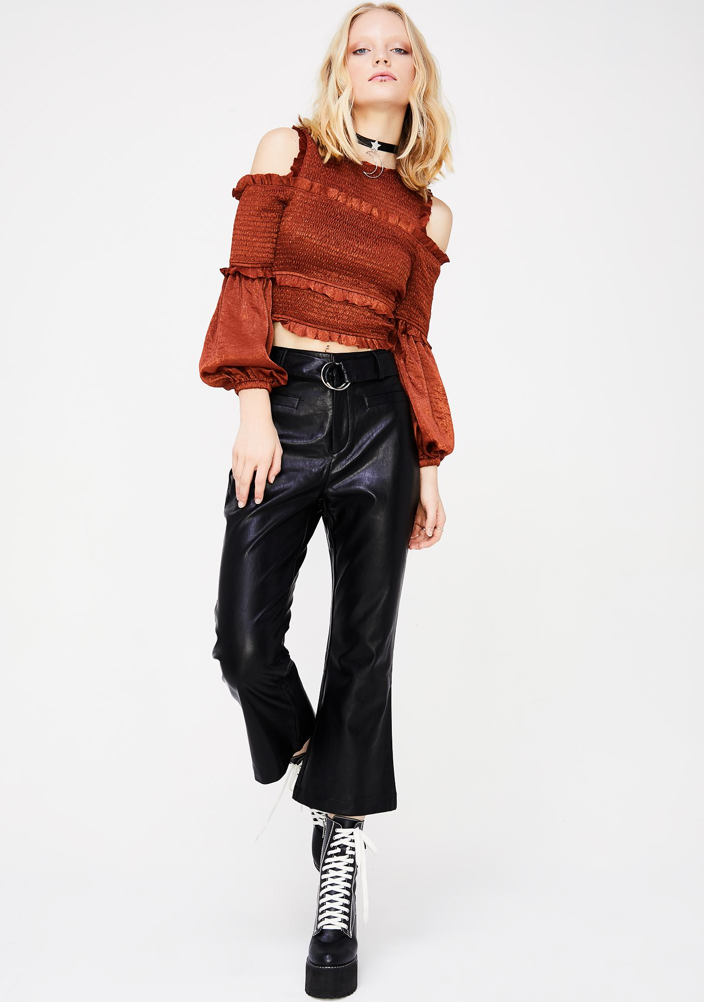 Bad Manners Ruffled Top