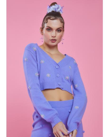 After The Show Rosette Crop Cardigan