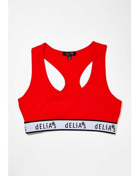 Cherry dELiA's Sports Bra