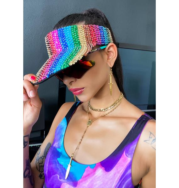 Good Times Eyewear Rainbow Beaded Visor