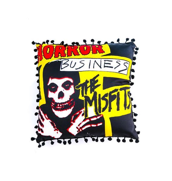 Sourpuss Clothing Misfits Horror Business Pillow