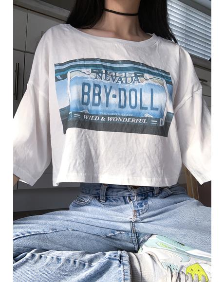 Tailgate Graphic Crop Tee