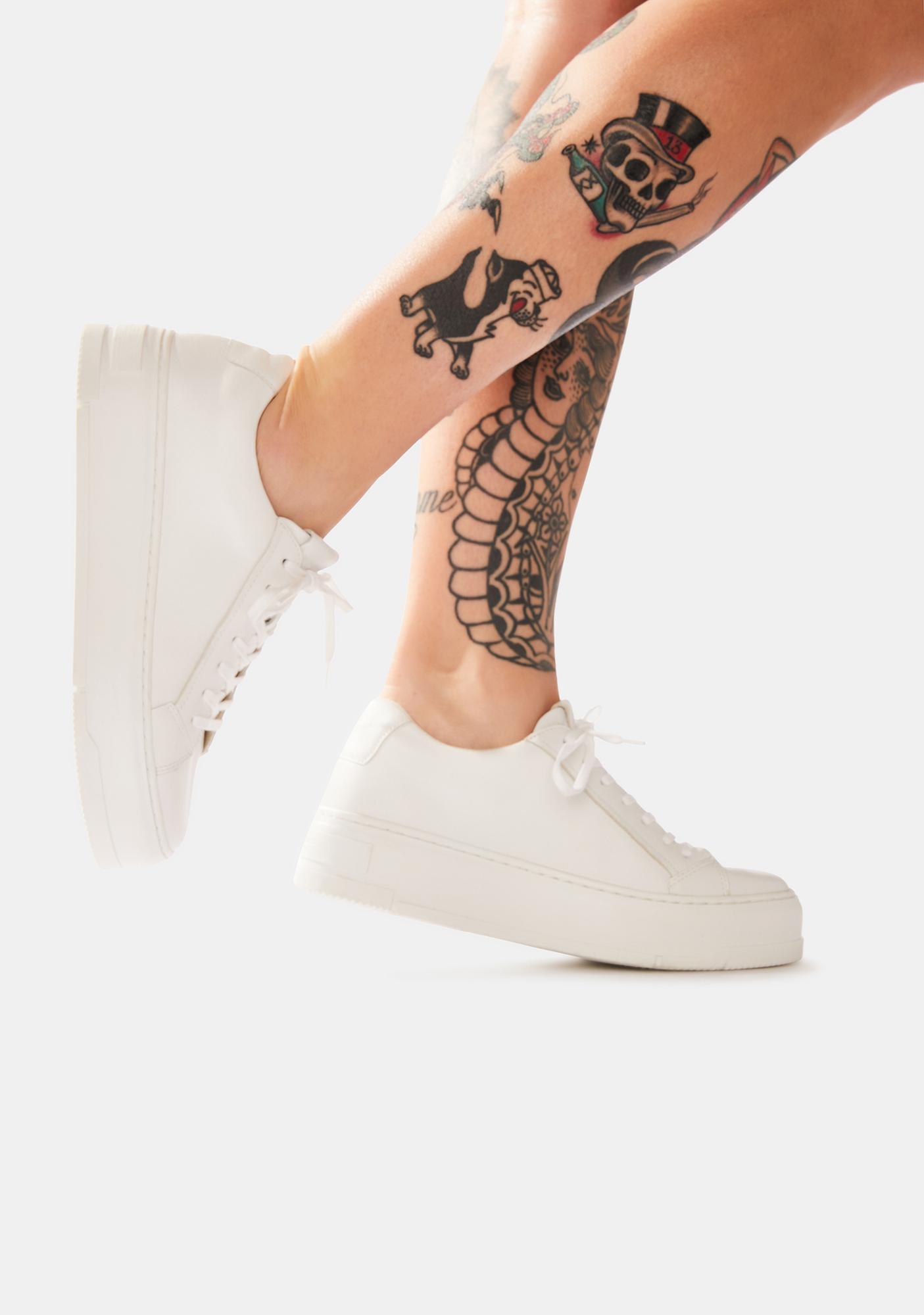 VAGABOND SHOEMAKERS Judy White Leather Sneakers