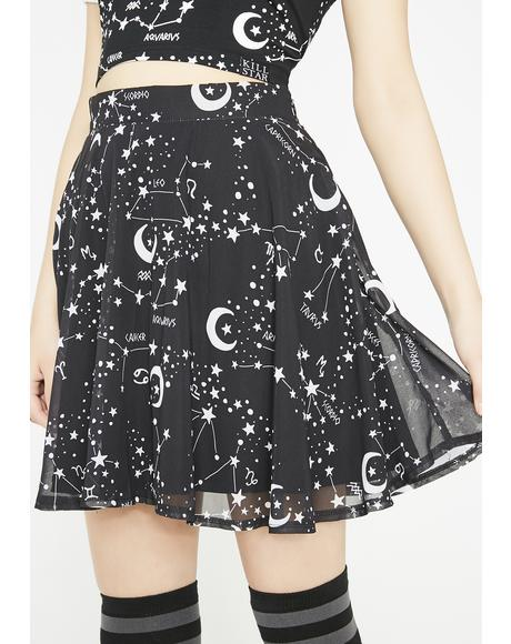 Milky Way Chiffon Skirt