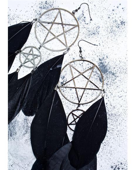 Nocturnal Dreamcatcher Earrings