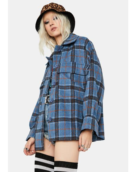Forget The Thrill Plaid Jacket