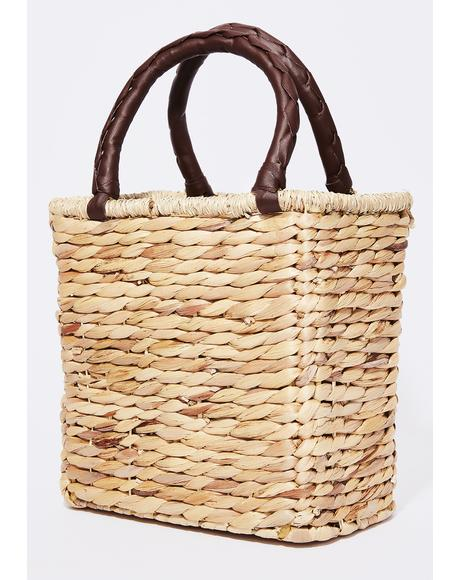 Sun Kissed Straw Handbag