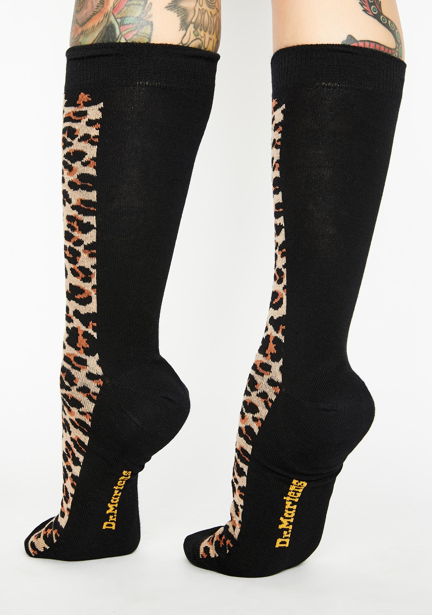 Dr. Martens Leopard Print Socks