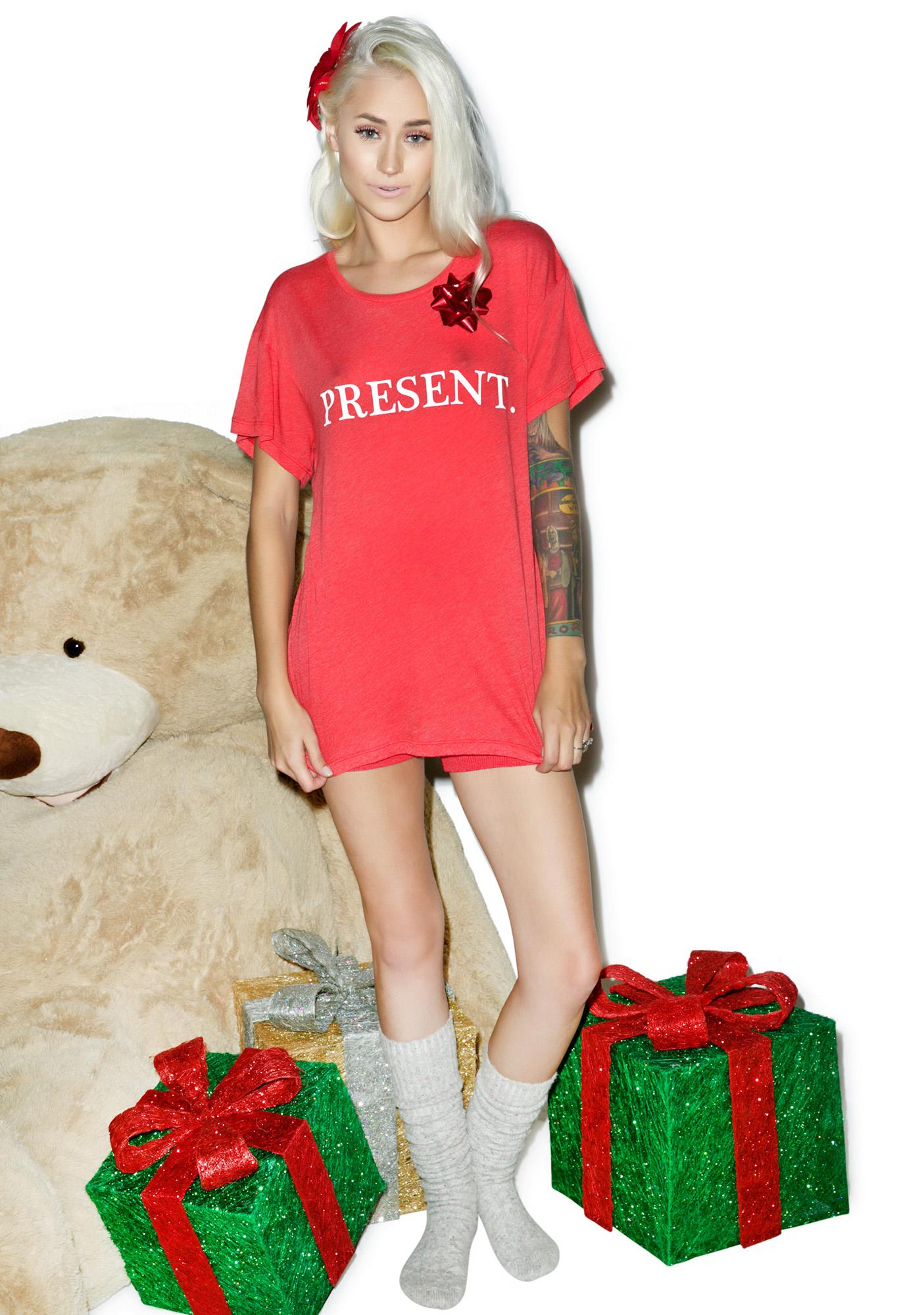 Wildfox Couture Unwrap Me Manchester Tee