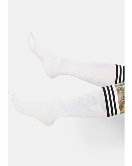 Sporty Sass Stripe Knee High Socks