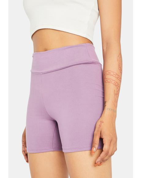 Lavender Raise The Pace Biker Shorts