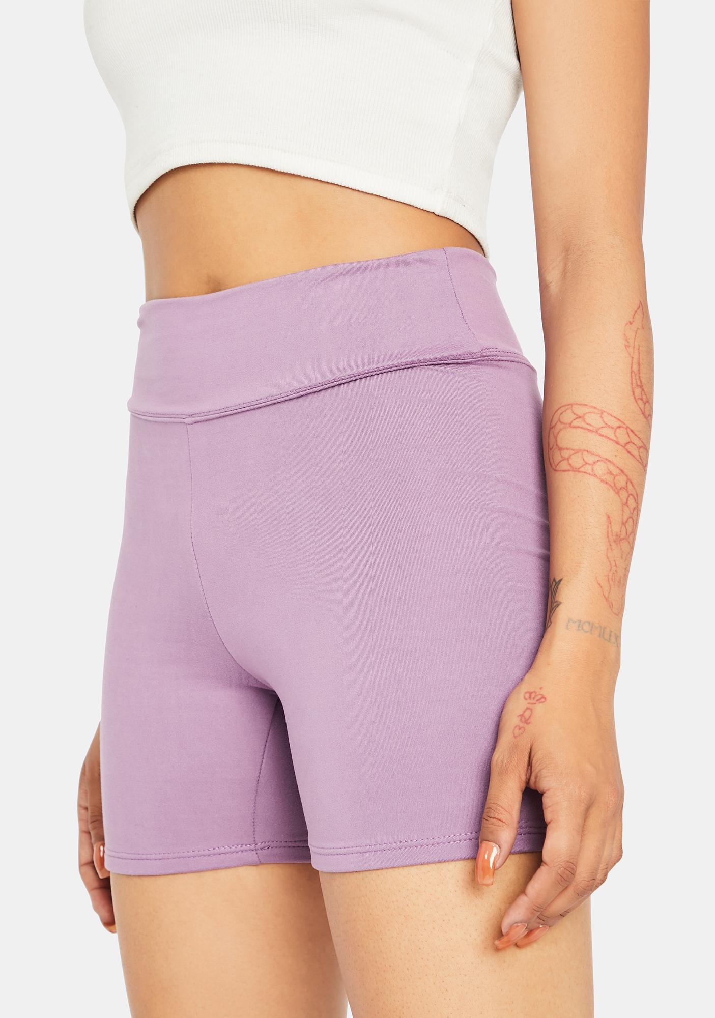 Lavender Raise The Pace Biker Shorts