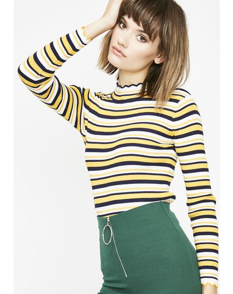 Sunny Playground Luv Stripe Top