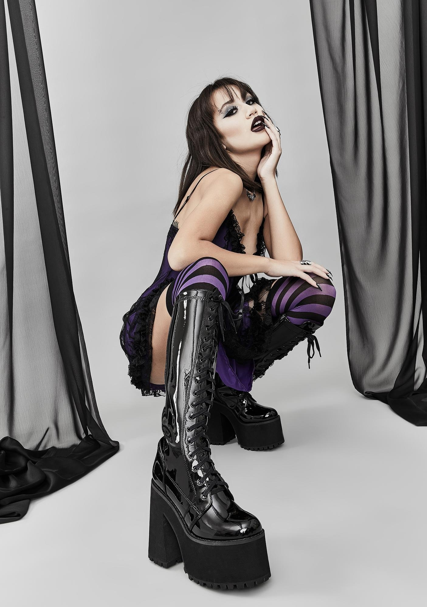 Widow Self Annihilation Patent Boots