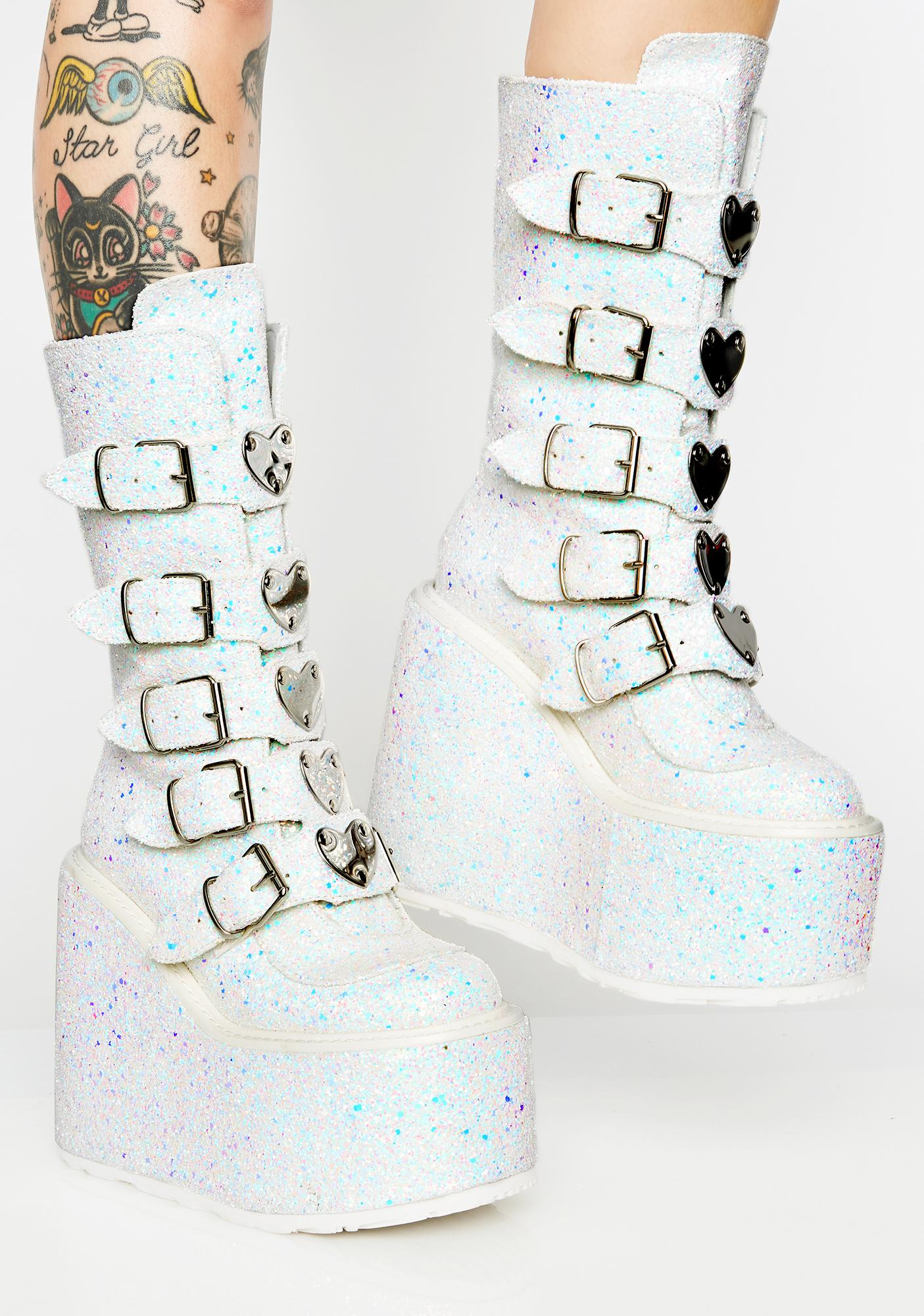 Demonia Frosted Lovesick Trinity Boots