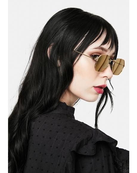 Jones Gold Sunglasses