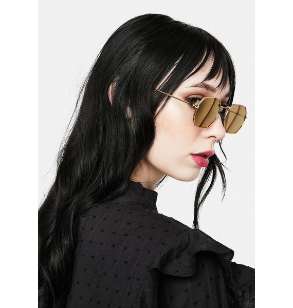 I-SEA Jones Gold Sunglasses