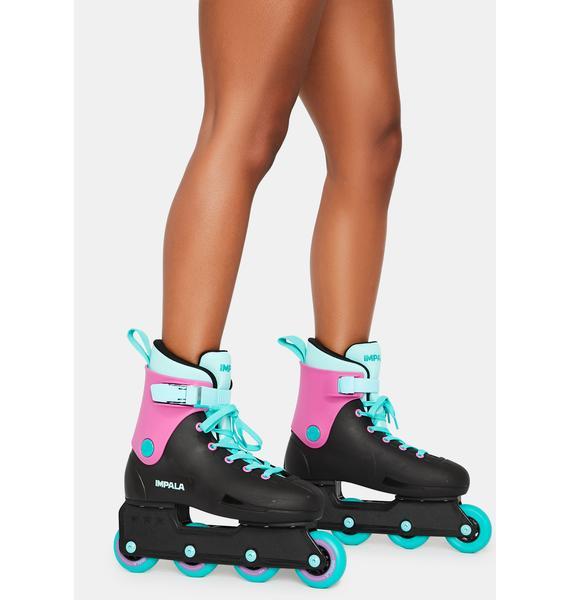IMPALA LIGHTSPEED INLINE SKATE ROLLERBLADES BLACK//BERRY NEW IN BOX