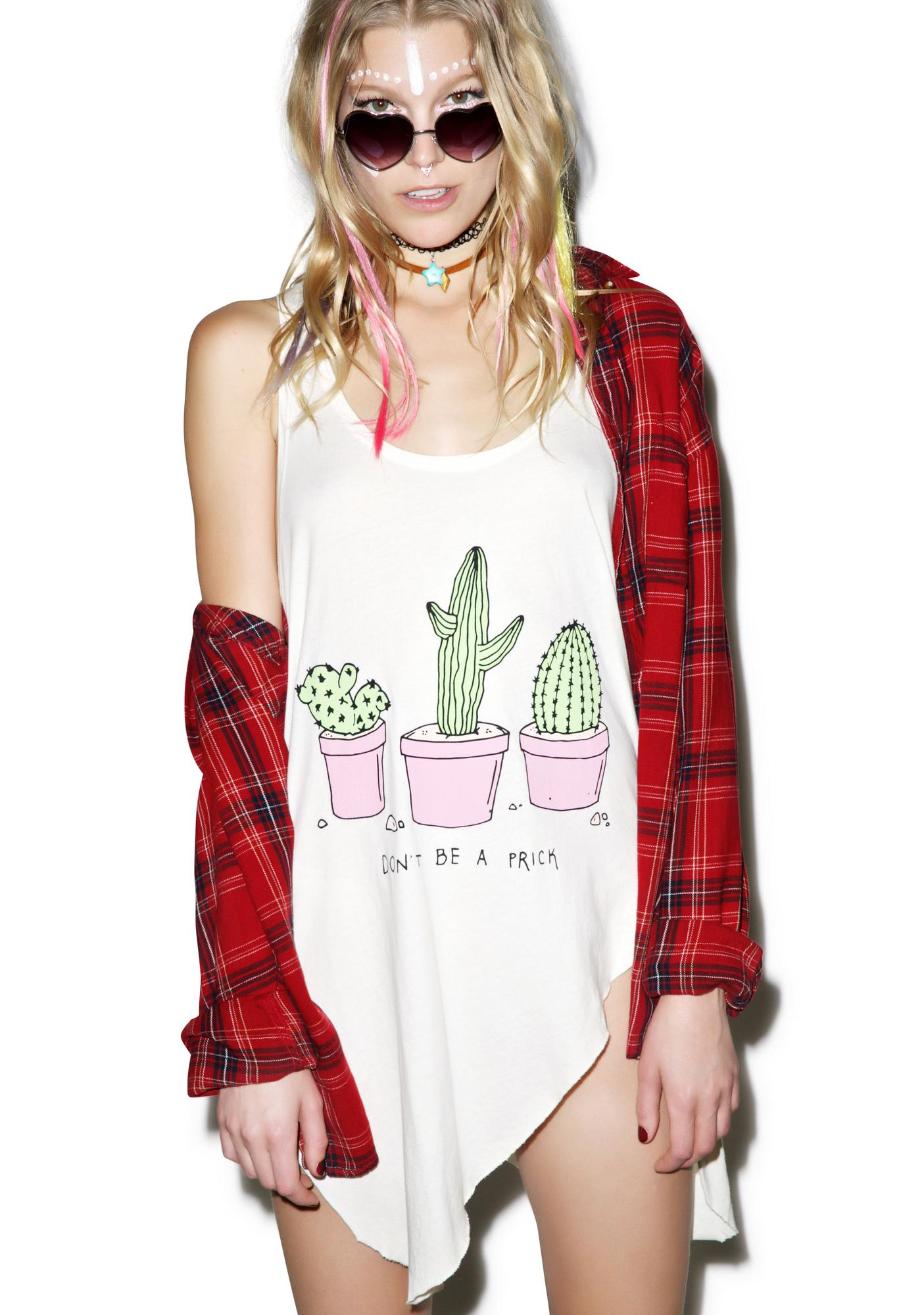 Jac Vanek Don't Be A Prick Ripped Tank Top