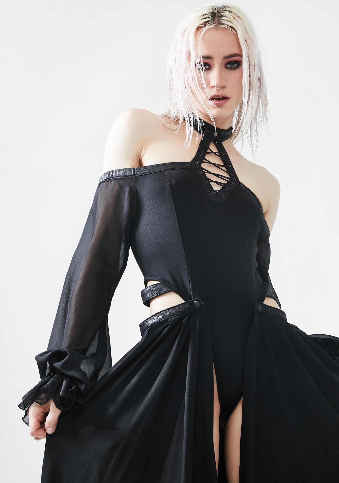 Punk Rave Dark Night Maxi Jumpsuit